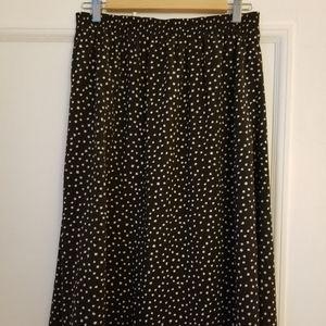 Vintage polkadot midi skirt